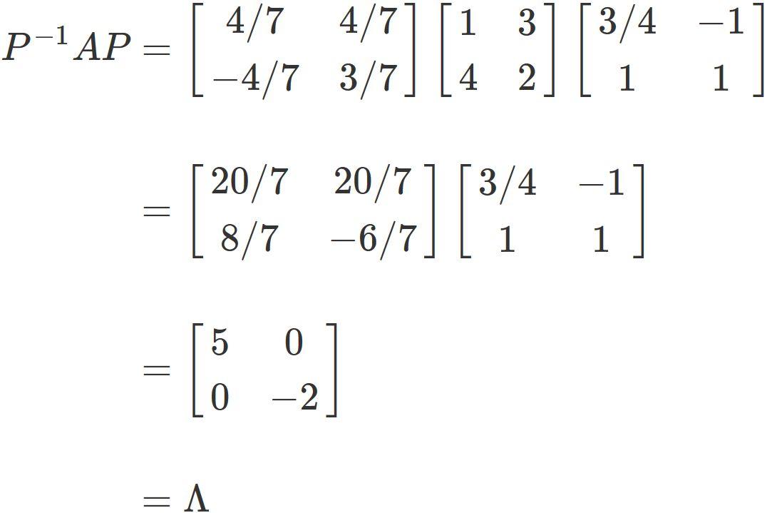 2行2列の行列を対角化する例題と...