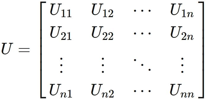 ユニタリー行列の定義と12個の性...